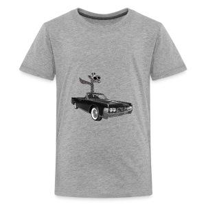 Retro Vintage Giraffe Car Road-Trip - Kids' Premium T-Shirt