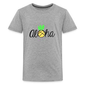 Aloha Pineapple Bliss Logo - Kids' Premium T-Shirt