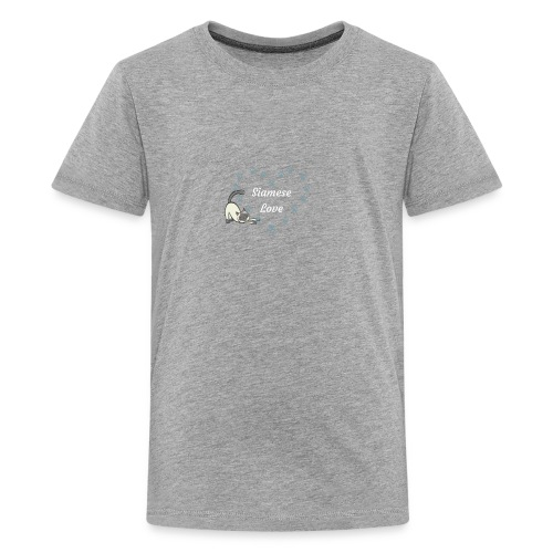 Siamese Love Cat Heart - Kids' Premium T-Shirt