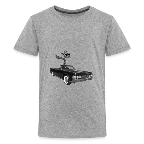 Retro Vintage Giraffe Car Road-Trip - Kids' Premium T-Shirt