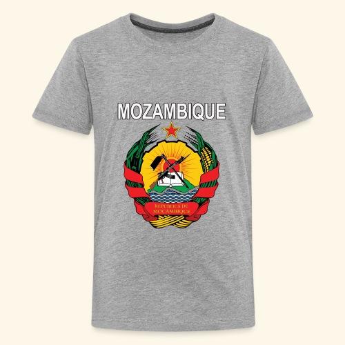 Mozambique coat of arms national design - Kids' Premium T-Shirt