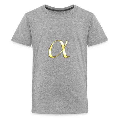 Alpha in Gold - Kids' Premium T-Shirt