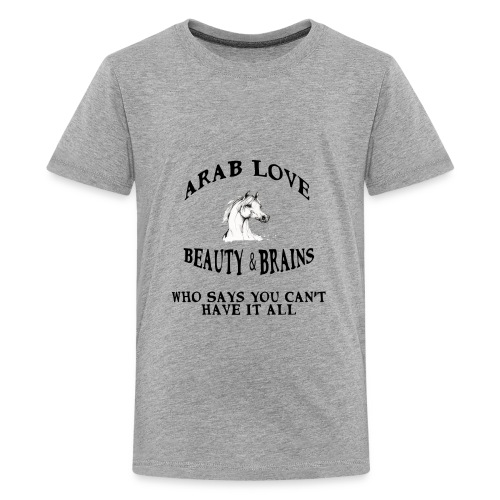 Arab Love Beauty and Brains - Kids' Premium T-Shirt