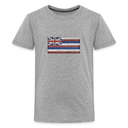 Hawaii Grunge Flag - Kids' Premium T-Shirt