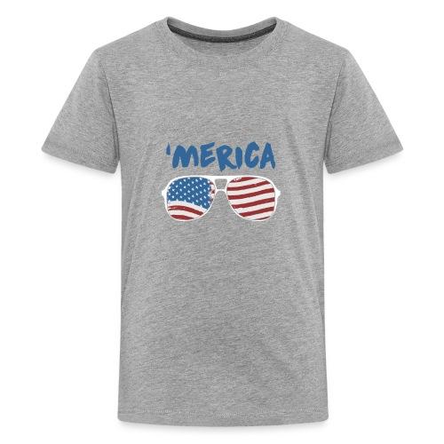Merica 4th of July - Kids' Premium T-Shirt