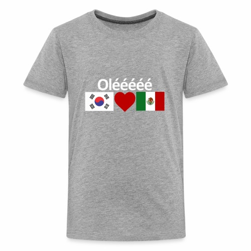 Mexico Soccer Jersey Shirt Mexico and Korea flag - Kids' Premium T-Shirt