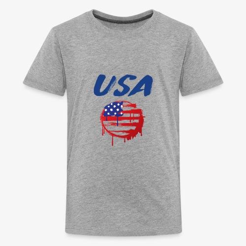 USA Graffiti Flag - Kids' Premium T-Shirt