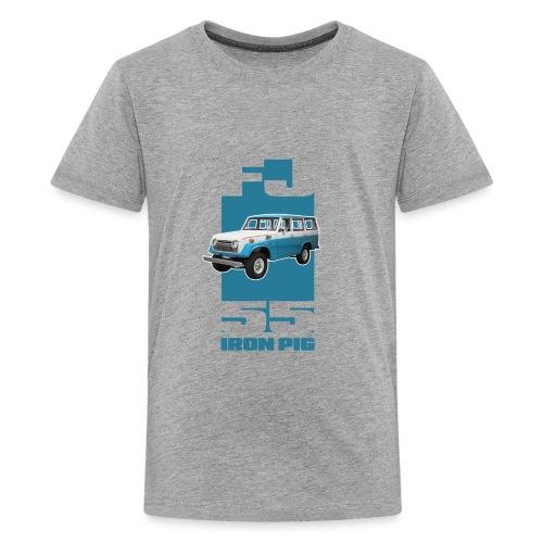 BLUE Toyota FJ55 Landcruiser IRON PIG wagon - Kids' Premium T-Shirt