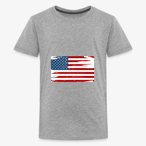 Bandera del Día de la Independencia de los Estados - Kids' Premium T-Shirt