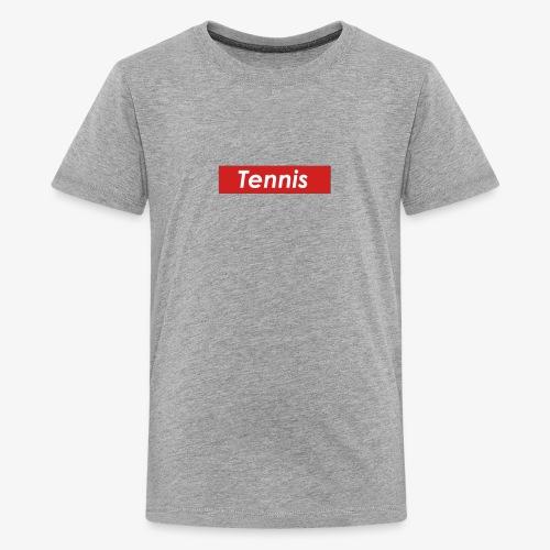 Tennis Box Logo - Kids' Premium T-Shirt