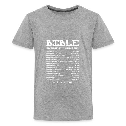 Bible Emergency Numbers - Kids' Premium T-Shirt