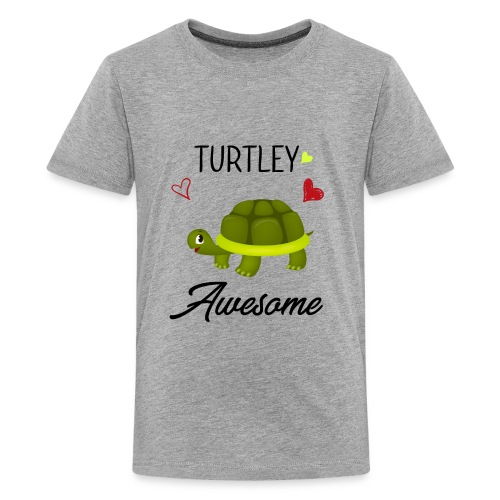 Turtley Awesome - Funny Turtley Cute - Love gift - Kids' Premium T-Shirt