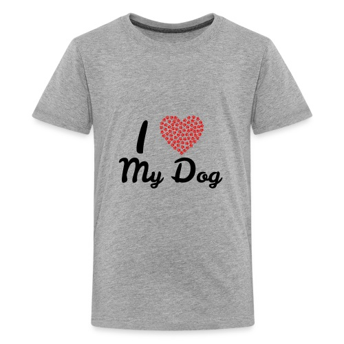 I love my dog - Kids' Premium T-Shirt