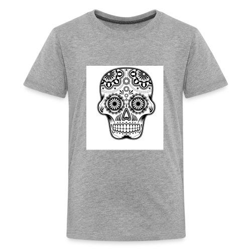 sugar skull black and white - Kids' Premium T-Shirt
