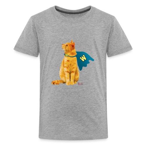 Wonder Cat with Cape - Kids' Premium T-Shirt