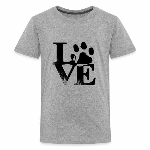 Luv Paw Print - Kids' Premium T-Shirt