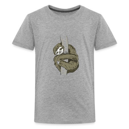 Sloth Animal cute Slow Nerd sleep chill out nap - Kids' Premium T-Shirt
