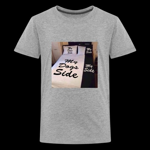 My side of the bed, my dogs side - Kids' Premium T-Shirt