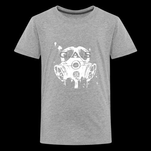 Big White Gas Mask 1 - Kids' Premium T-Shirt