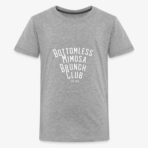 Bottomless Brunch white letter - Kids' Premium T-Shirt