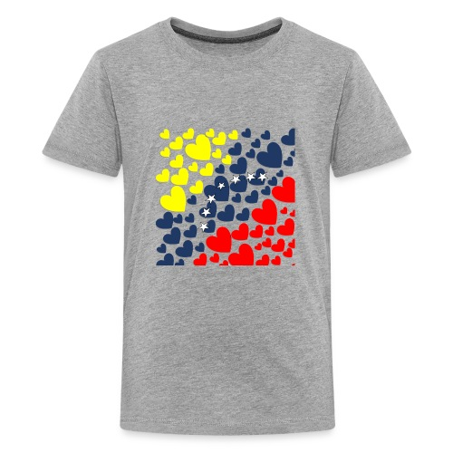 Venezuela´s Flag in heart - Kids' Premium T-Shirt