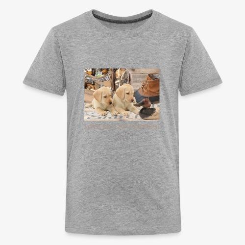 LOVE MY LAB PUPPIES - Kids' Premium T-Shirt