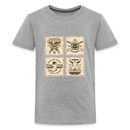 American Cowboy Rodeo Show Wild West Collection - Kids' Premium T-Shirt
