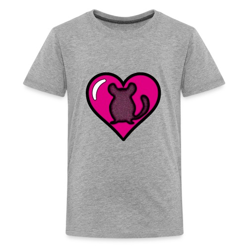 Pink Chinchilla Heart - Kids' Premium T-Shirt