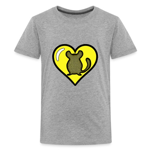 Yellow Chinchilla Heart - Kids' Premium T-Shirt