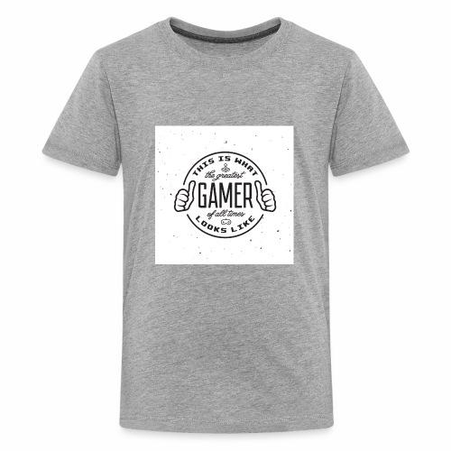 Greatest Gamer white - Kids' Premium T-Shirt