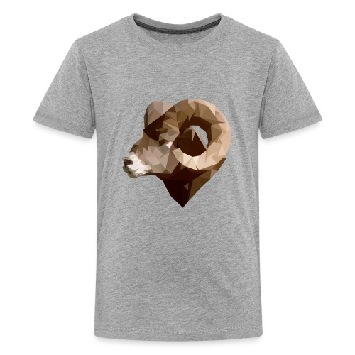 Manni the RAM Polygon - Kids' Premium T-Shirt