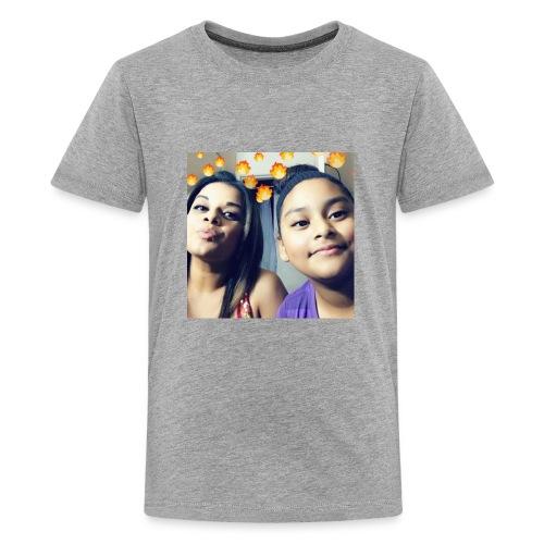 alexusfam/instagram alexus8780💙🤙🏻🤞🏼🤞🏼♥️♥️♥️ - Kids' Premium T-Shirt