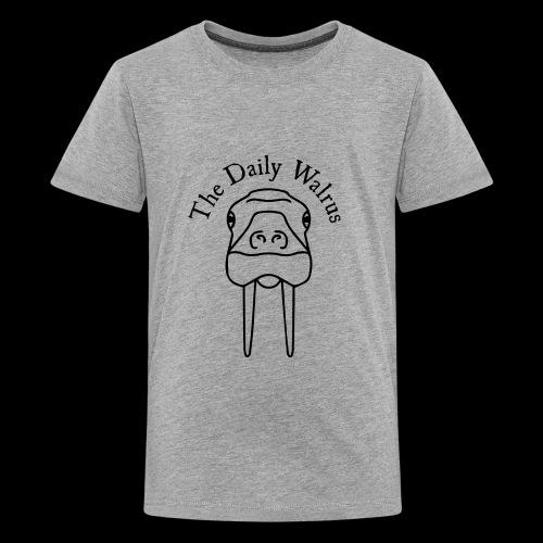 Walrus logo black - Kids' Premium T-Shirt