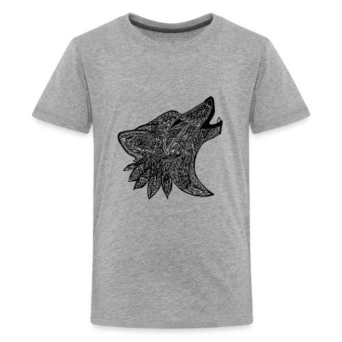 Tribal Wold Design - Kids' Premium T-Shirt