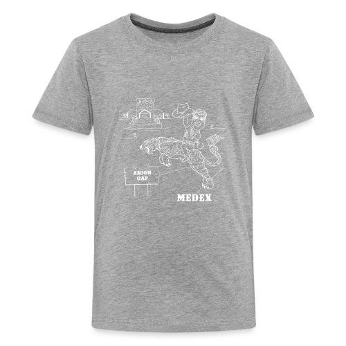 MEDEX anion gap in white print - Kids' Premium T-Shirt