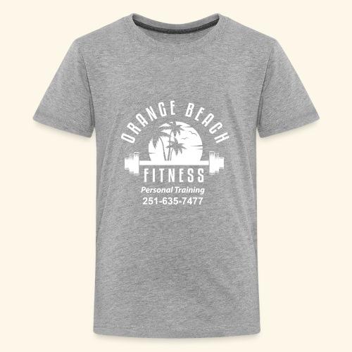Orange Beach Fitness White Personal Training - Kids' Premium T-Shirt