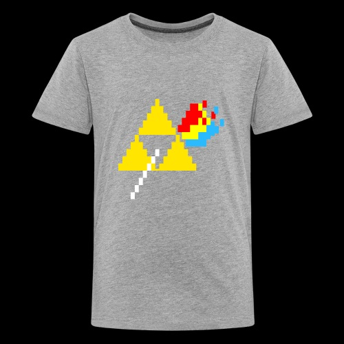 the dark side of the Triforce pixel - Kids' Premium T-Shirt