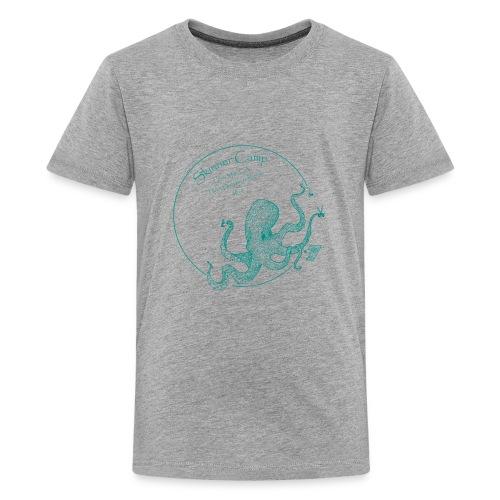 Skinner Camp - Teal Logo - Kids' Premium T-Shirt