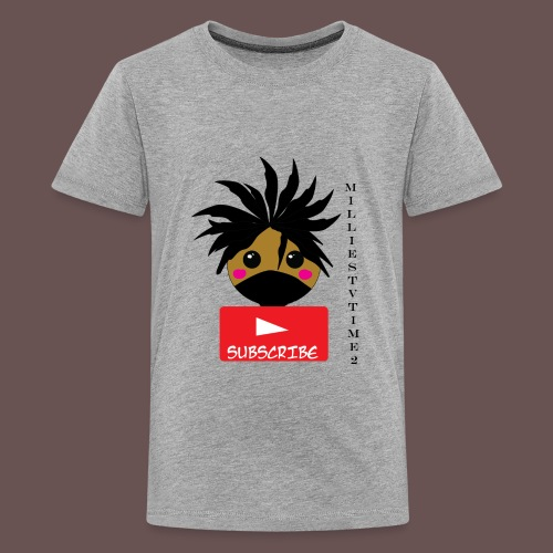 MilliesTVTime2 Subscribe - Kids' Premium T-Shirt