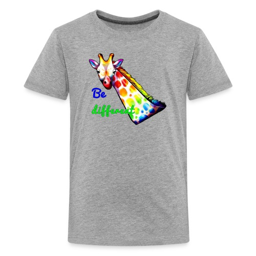 Colorful Giraffe Be Different - Kids' Premium T-Shirt