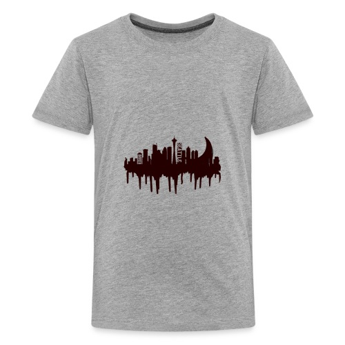 Seattle Moon and Skyline - Kids' Premium T-Shirt