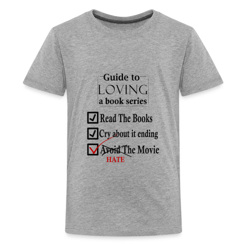 Guide To Loving A Book Series (Black) - Kids' Premium T-Shirt