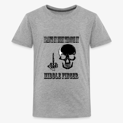 SKULL IS THE LIMIT - Middle Finger - Kids' Premium T-Shirt