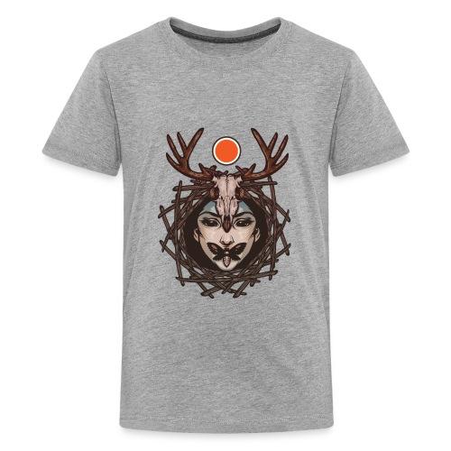 Mother Of Nature Deer Butterfly Design - Kids' Premium T-Shirt