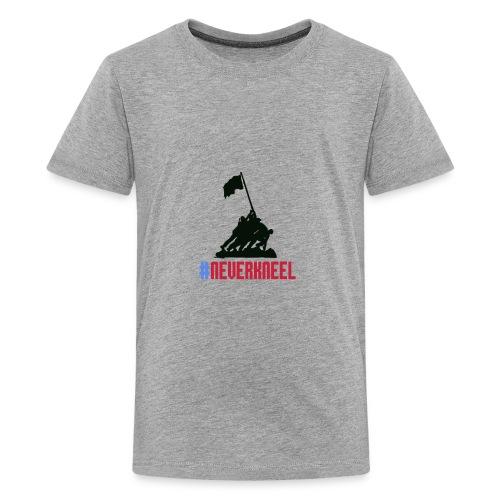 #NEVERKNEEL Shirt - Kids' Premium T-Shirt