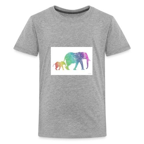Zentangle Elephants - Kids' Premium T-Shirt