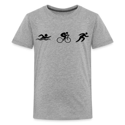 Swim Bike Run - Figures - Kids' Premium T-Shirt