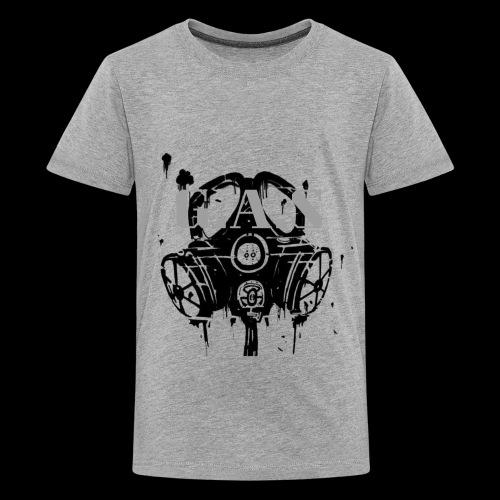 Big Black Gas Mask - Kids' Premium T-Shirt