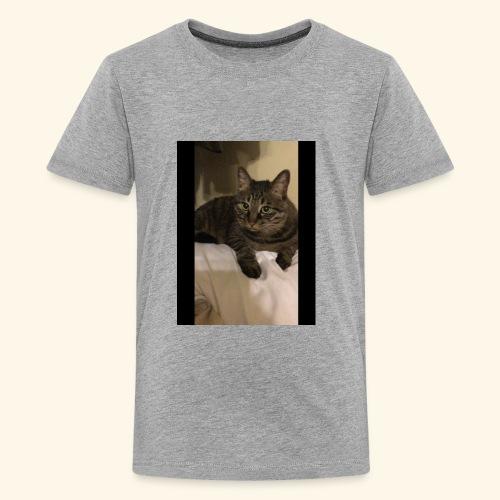 My black cat named Snickers. - Kids' Premium T-Shirt