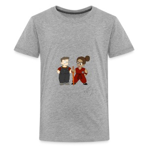 Goku style couple - Kids' Premium T-Shirt